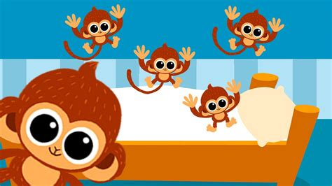 monkeys jumping on the bed video 5 little monkeys jumping on the bed nursery rhyme