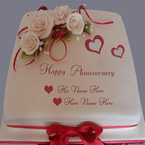 Wedding Anniversary Wishes Name Editing by Luxury 2017 Wedding Anniversary Cake With Name Edit Happy