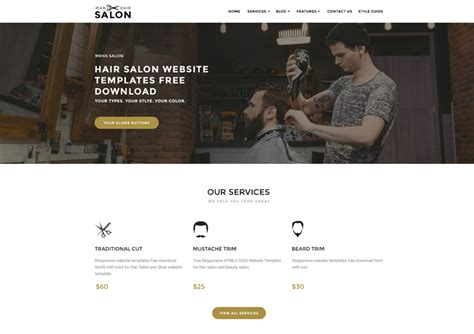 Hair Salon Website Templates Free Download 72pxdesigns Hair Salon Website Design Templates Free