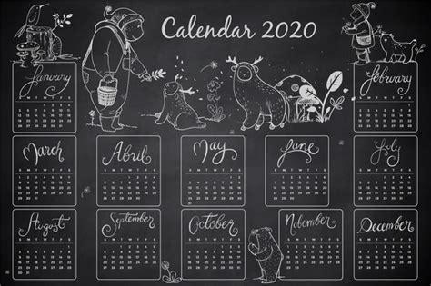 hand drawn  calendar template  vector
