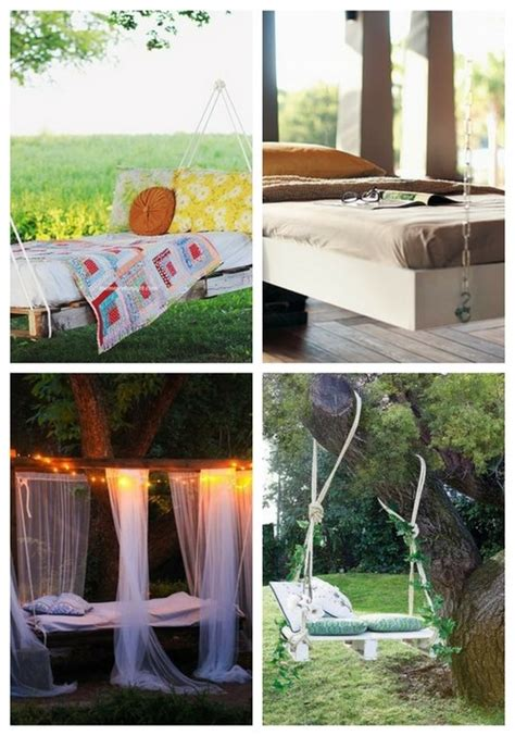 daydreaming outdoor beds centsational girl diy outdoor hanging bed