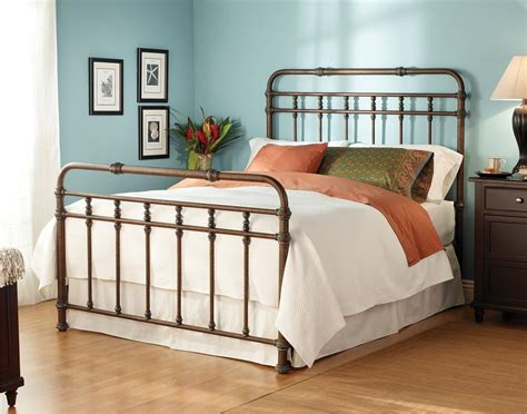 queen size iron bed wesley allen iron beds queen complete laredo headboard and
