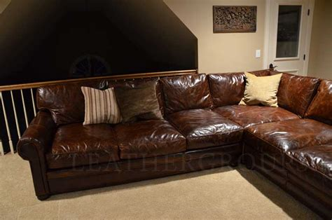 michael s langston leather sectional sofa the leather