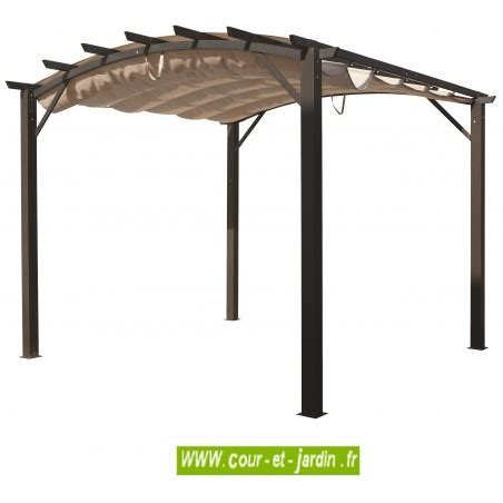 pergola avec toile coulissante 2541 tonnelle aluminium terrasse en kit pergola aluminium