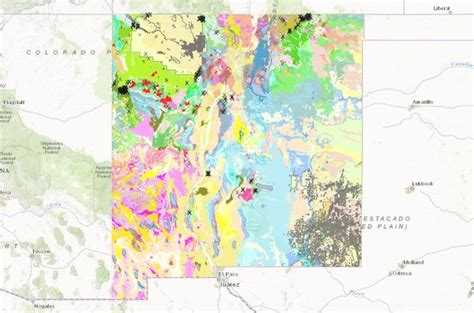 resource map of mexico interactive map of new mexico s geology and