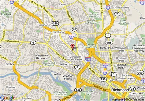 map of richmond va map of inns of virginia richmond richmond