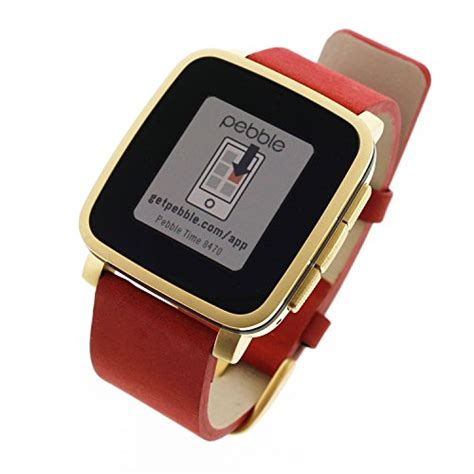 pebble time steel gold deluxe black edition black
