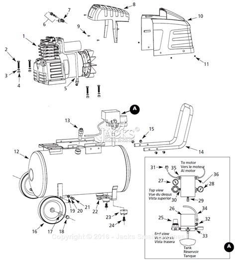 diagram of air compressor cbell hausfeld hl5501 parts diagram for air compressor