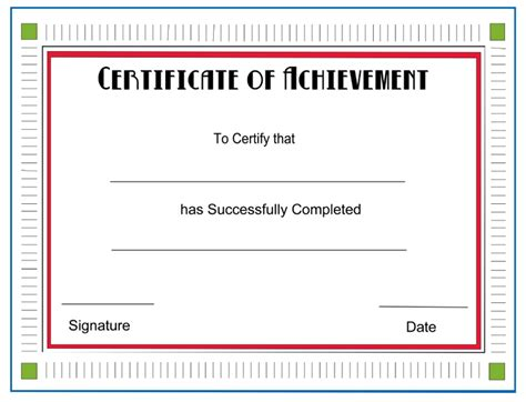 free certificate of achievement templates for word achievement certificate template new calendar template site