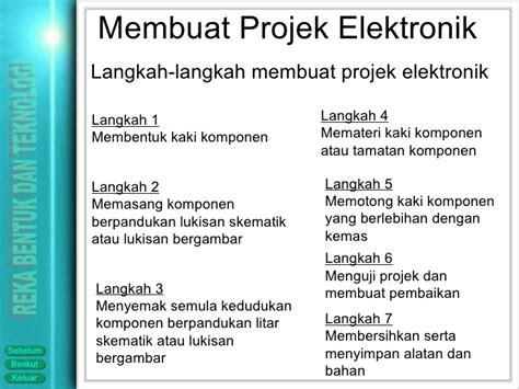 langkah langkah elektronik