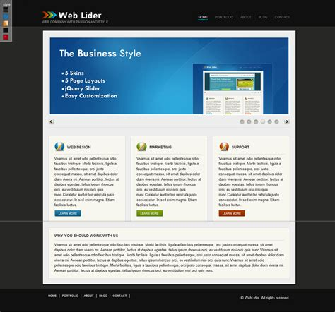 weblider business wordpress template wp templates
