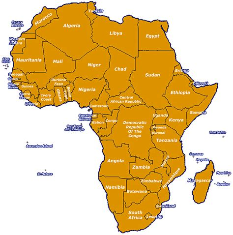 map of africa with country name names of all the countries wow image