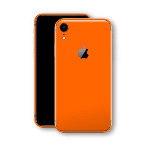 iphone xr orange matt skin wrap decal easyskinz