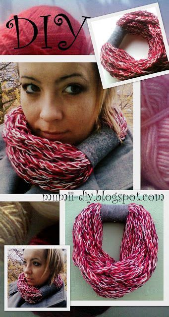 how to make a finger knit scarf wider diy knit scarf how to make a scarf using their own