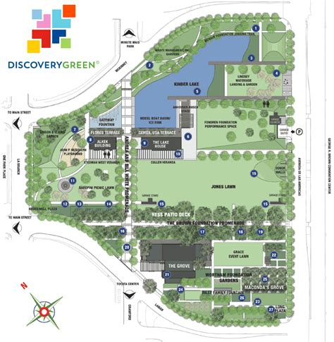 Discovery Green Calendar Discovery Green Park Map Discovery Green Houston