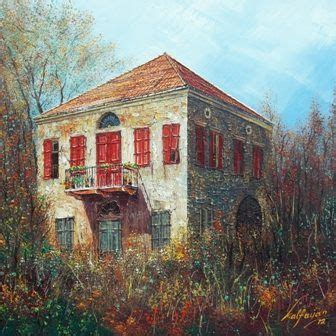home design gallery lebanon old lebanese house with red windows and doors painting by