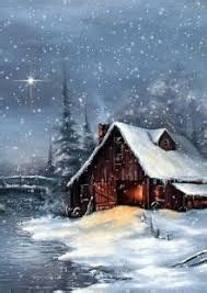 image result  images  bob ross snow scenes christmas scenes winter house christmas
