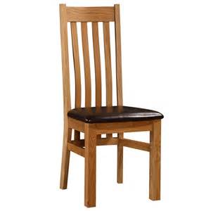 heartlands louisa solid oak dining chair next day