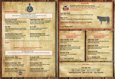 House Menu by Steak House Menu Design Inside On Behance
