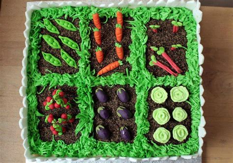 Vegetable Garden Cake Vegetable Garden Cake Birthday Cakes