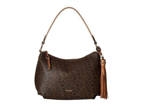 Calvin Klein Classic Monogram Hobo womens hobo handbags handbags purses luggage