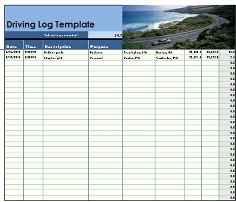 driving log book template driver daily log excel pictures to pin on