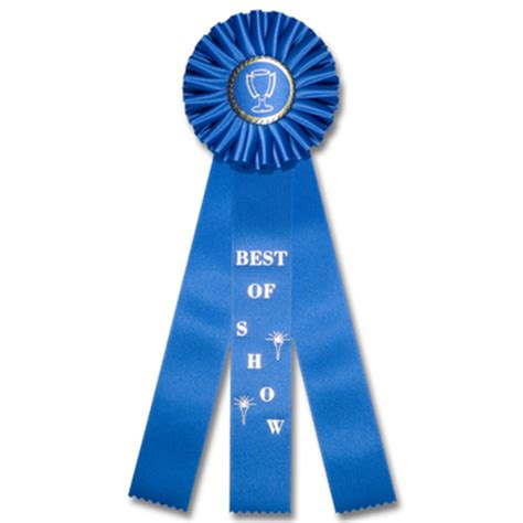 Ribbon Three best of show classic three streamer rosette award ribbon