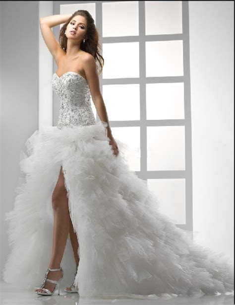 short wedding dresses with long trains wedwebtalks
