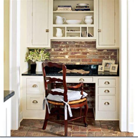 built in desk for kitchen nook home