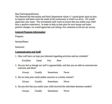 program evaluation forms 12 program evaluation forms sles exles formats
