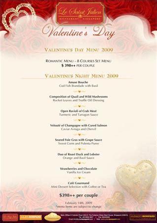 design valentine menu valentine menu design