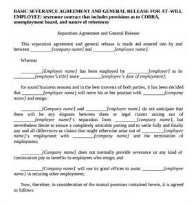 severance agreement template sle severance agreement 6 documents in pdf word