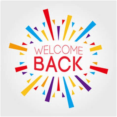 welcome back template stock images royalty free images vectors