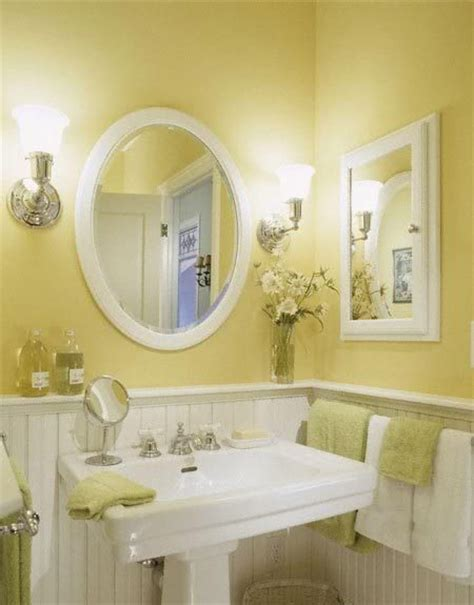 bathrooms with yellow walls what color do i paint the walls of a small bathroom that has ivory and cobalt tile