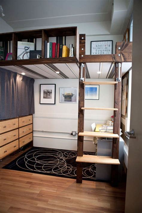 Bunk Bed With Office Underneath Mixing Work With Pleasure Loft Beds With Desks Underneath