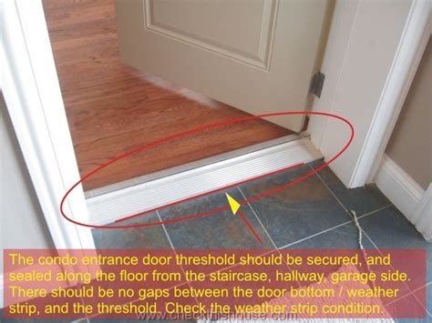 Sealing Exterior Door Threshold Exterior Door Threshold Condo Entrance Door Frame Door