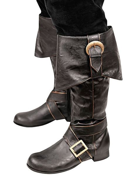 mens black boots with buckles mens pirate boots with buckles black