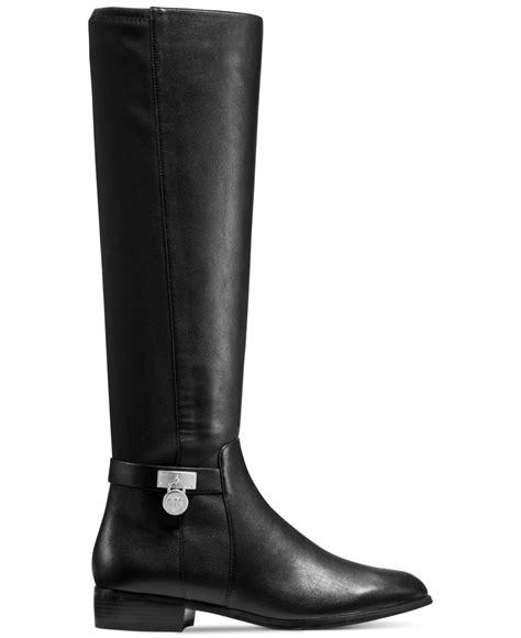 boots michael kors michael kors hamilton 50 50 boots in black lyst