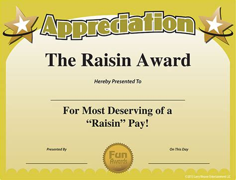 employee appreciation day funny award ideas