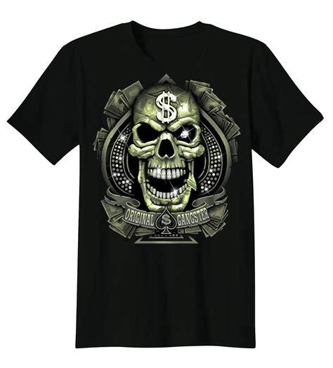 design t shirt make money t shirt custom design original gangster skull dollar sign