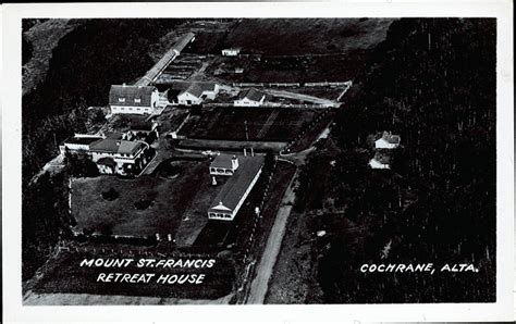 st francis retreat house postcard 11962 mount st francis retreat house cochrane alta cca 1940
