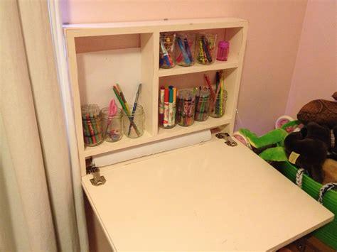 flip down wall desk ana white flip down art desk diy projects