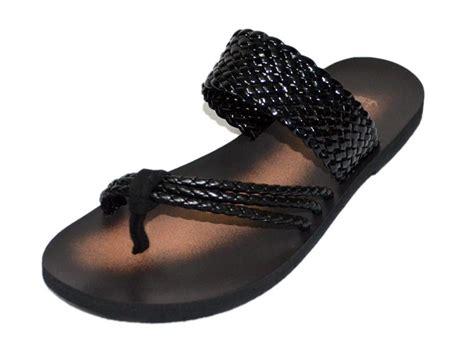 mens soft leather sandals casual mens sandals flat black soft genuine leather