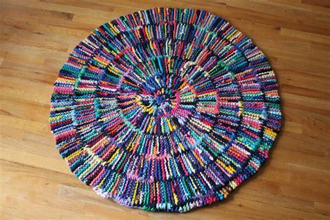 Shirt Rag Rug by T Shirt Rag Rug Rainbow Circular Shabby Cottage Chic Log