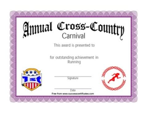 run certificate template running award certificate winner in running competition