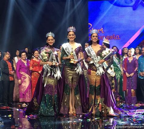 Kebaya Kahiyang Ayu Pendek Kebaya Kahiyang Ayu Kebaya Kondangan 3 foto ketiga puteri indonesia 2016 dibalut kebaya rancangan