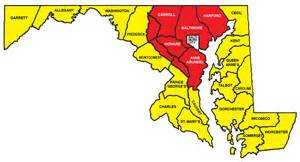 maryland map counties state records most rushing attempts maryland high