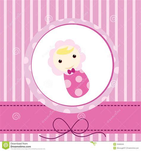 Baby Birthday Card Design Baby Card Royalty Free Stock Photo Image 18460545
