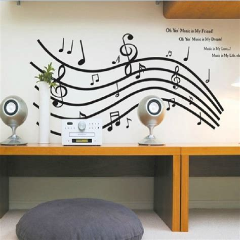 Music Notes Wall Stickers music note wall sticker wall stickers vinyl wall art