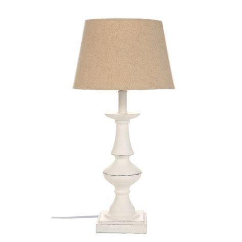 shabby chic floor l lampada da tavolo base legno bianco shabby chic 23x23h45